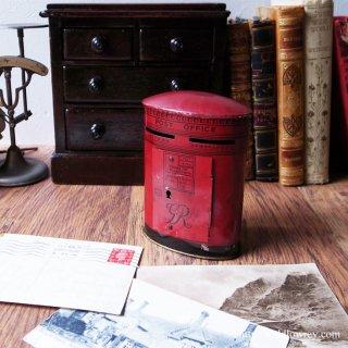 Vintage CHAD VALLEY Tin Toy Money Box Royal Mail Pillar Box