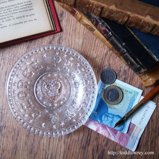 Antique Pressed Glass Commemorative Plate for George Peabody