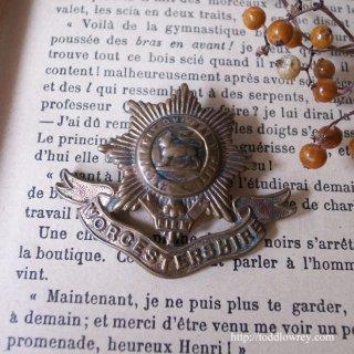 星を背負ったロイヤルライオン / Antique Worcestershire Regiment Cap Badge