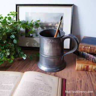 Antique Pewter Pint Tankard