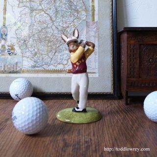 Vintage Royal Dolton Golfer Bunnykins 2001