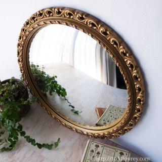 華麗な金彩をもつ魔女の瞳 / Vintage Rococo Style Giltwood Convex Mirror