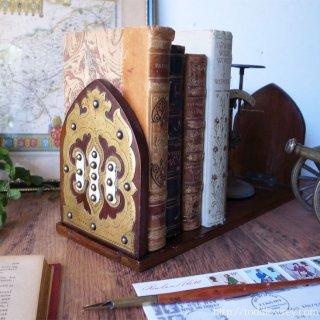 ヴィクトリアンの携帯式書架 / Antique Victorian Mahogany Book Slide
