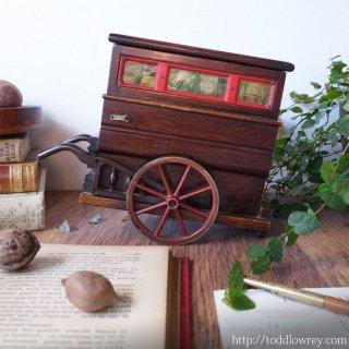 """郷愁をさそう机上のストリートオルガン /Vintage Street Organ Shape Musical Box """"Anniversary Song"""""""