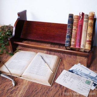 本を引き立てるエドワーディアンの端正な意匠 / Antique Edwardian Inlaid Book Trough
