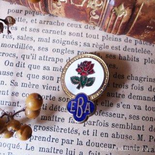 英国の薔薇 / Vintage Enamel Badge of Bowling Club