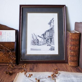 受け継がれる美への想い / Antique Print with Frame by William Rawson Homage to Peter Monamy