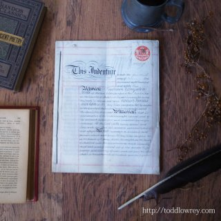 Antique Indenture of Percy Villas 1882-1903