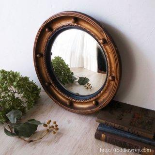 不思議な小さな世界を壁に出現させる魔法の一手/ Regency Style Giltwood Convex Mirror