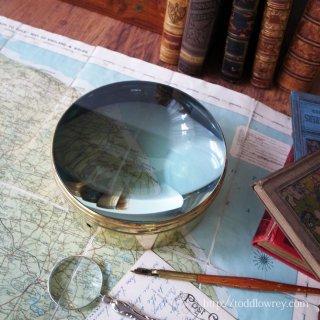 Antique Magic Lantern Brass Mounted Condensing Lens