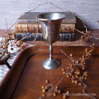 小さく優雅にひっそりと輝く / Vintage Engraved Silver Plated Liqueur Cup A