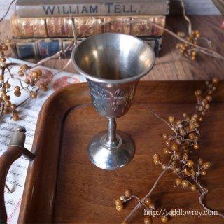 手で包み込むようにリキュールを愉しむ / Vintage Engraved Silver Plated Liqueur Cup B