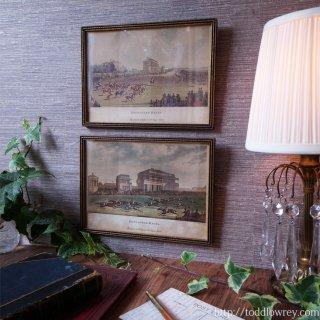 英国競馬の歴史に想いを馳せる / Antique Old Print with Frame