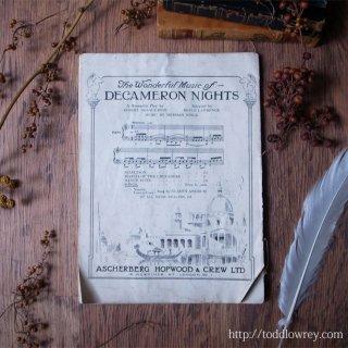 ジョージ五世の時代から歌声とざわめきを/ Antique Music Sheet from