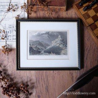 荒涼たるデボンシャーの岩山から / Antique Print