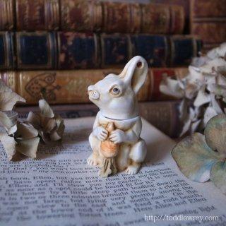 人参を抱えたコッツウォルズのブランカ侯爵 / Vintage Rabbit Figure by Harmony Kingdom