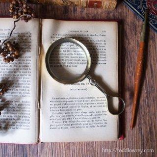 壮大な世界をみてみよう / Antique Victorina Brass Magnifying Glass