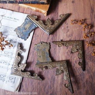 書を飾り書を護る / Antique Brass Book Courner Mount