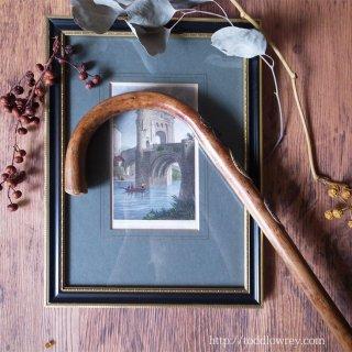 マウンテンステッキにリヒャルトローマ王を想う / Vintage Mountain Crook Handle Stick