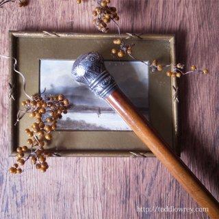 ヴィクトリアンのバーミンガムから来た飴色の杖 / Antique Victorian Walking Stick with Malacca Cane