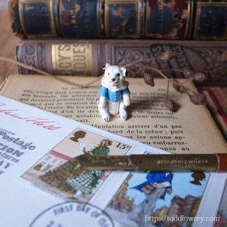青い上着を着た極小の友 / Antique Miniature Jointed Dog