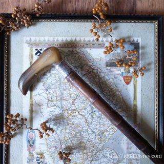 ヴィクトリアンの粋な紳士から貴方へ / Antique Walking Stick with Starling Silver Collar