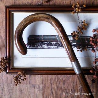 1923年のバーミンガムから貴方へ / Antique Crook Handle Walking Stick with Starling Silver Collar