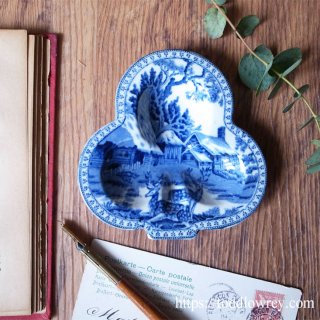 Antique Wedgewood FALLOW DEER Shamrock Dish