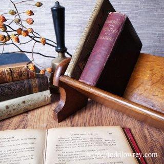 本を休めるオークの槽(ふね)/Antique Oak Book Trough