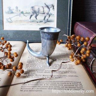 Vintage Perter Miniature Viking Drinking Horn