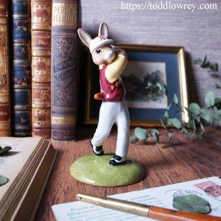 リンクスの風に立ち向かうウサギゴルファー / Vintage Royal Dolton Golfer Bunnykins 2001