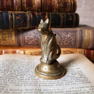 エジプシャンな猫はいかが / Antique Brass Egyptian Cat Figure