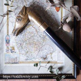 愛馬を模した仕掛け杖 / Vintage Three Pieces Horse Head Walking Stick with Flask