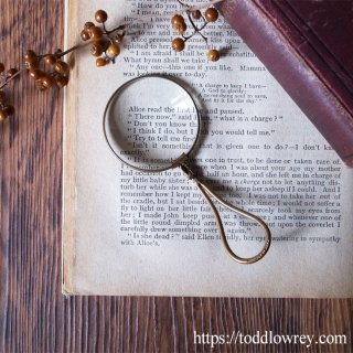 Antique Folding Magnifying Glass