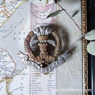 19世紀のダイハードを受け継ぐ印/ Antique Cap Badge of Middlesex Regiment