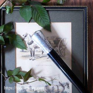 国王に会うサー・ウィンストン・チャーチルのように / Antique Walking Stick with Sterling Silver Grip