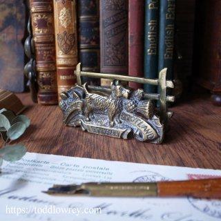 素晴らしきスコットランド / Antique Small Brass Letter Rack