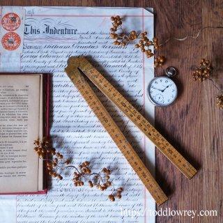 使って嬉しいこだわり定規 / Vintage Folding Ruler by Rabone Chesterman England