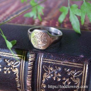 クールな自由はいかがでしょう /  Vintage Sterling Silver Monogram Ring