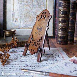 幸運のツバメが舞う小さな画架 / Antique Sorrento Ware Small Easel