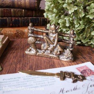 キノコとカエルとピクシーと /Antique Small Letter Rack