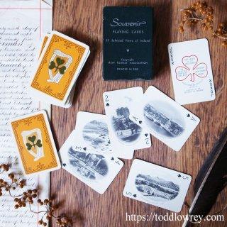 ハープとシャムロックと共に名所を巡る / Vintage Playing Cards with 52 SElected Views of Ireland