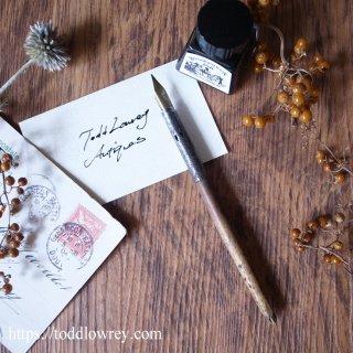 バーミンガムのペン先で何を書こうか / Vintage Wooden Shaft Dip Pen with Nib