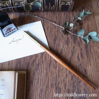 文字を書く贅沢を享受する / Antique Wooden Shaft Dip Pen with Nib