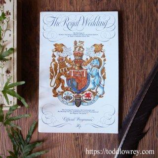 歴史の一頁を繰るひととき / Vintage Official Programme of The Royal Wedding 1981