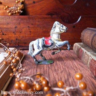 サーカスの白馬 / Vintage Painted Lead Toy Circus Horse