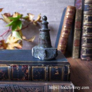 コーンウォールの悠久の時をもつライトハウス / Antiue Miniature Carved Cornish Serpentine Lighthouse