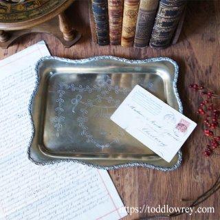 銀の盆に何をのせよう / Antique Silver Plated Tray by Mappin Brothers