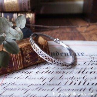 2色のブリックを積んで / Vintage Sterling Silver Bracelet