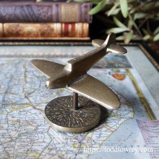 英国の空を護ったじゃじゃ馬 / Vintage Brass Desk Top Aircraft